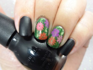 Flower forest nail art