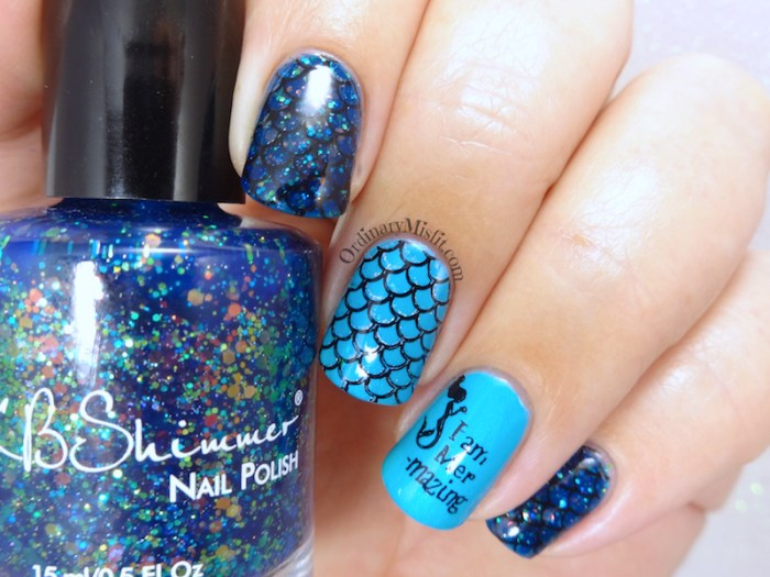 Secret Santa - Mer-mazing nail art