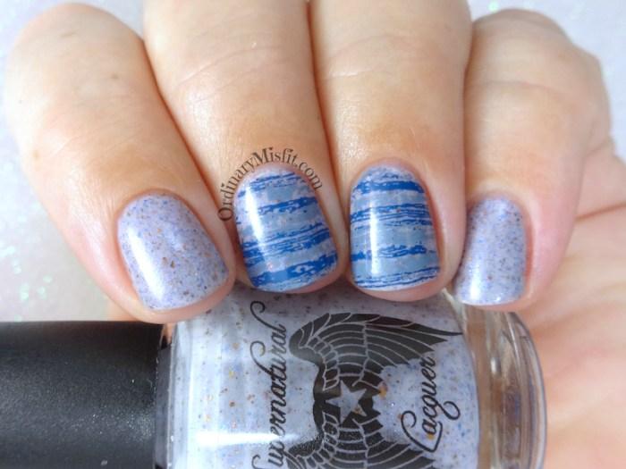 52WeekNailChallenge - Week 8 - Grey & blue