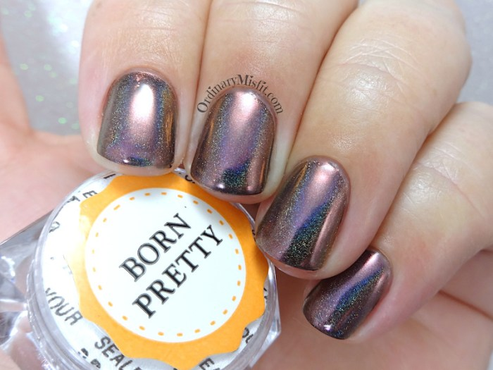 Born pretty Store holographic chameleon chrome pigment powder review