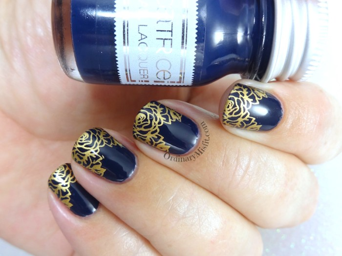 Bronze french nail art