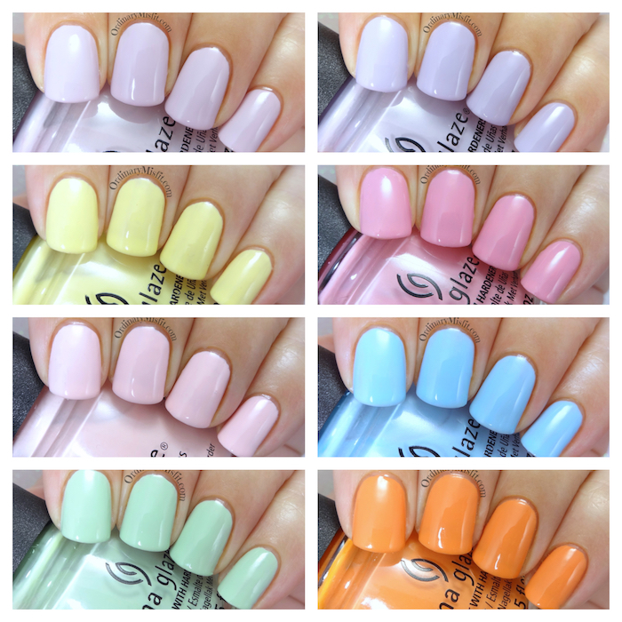 China Glaze - Pastels collection