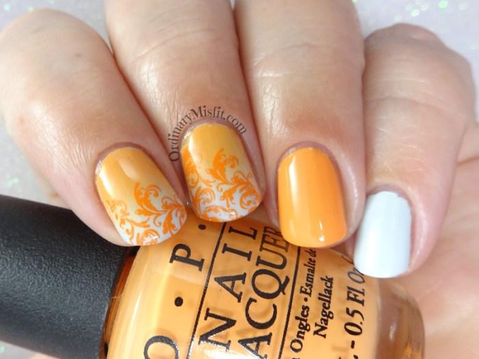 31DC2018 Day 2- Orange nails