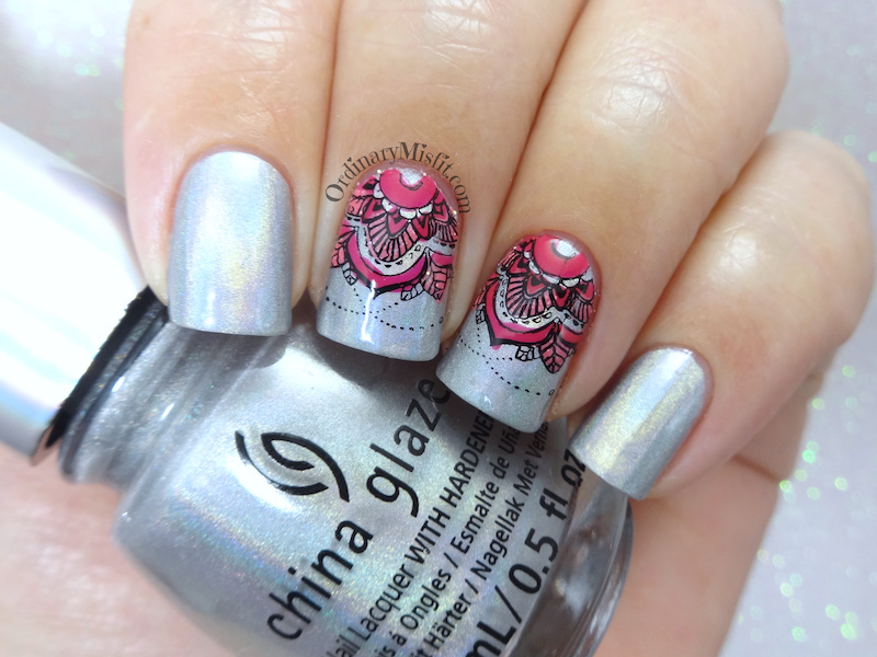 Born Pretty Store review - Stamping plate Mandala S004