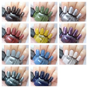 China Glaze - Ready to wear collection collage