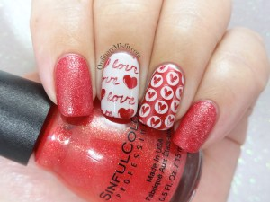 Secret santa is all about love nail art