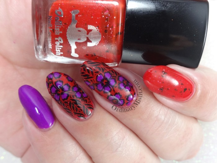 Born Pretty Store review - Tropical punch L003 stamping plate