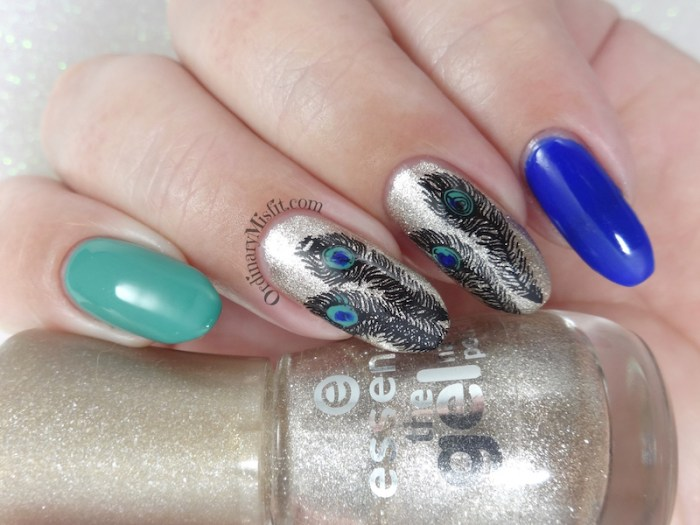 Polished Pretties monthly manis April - Peacock