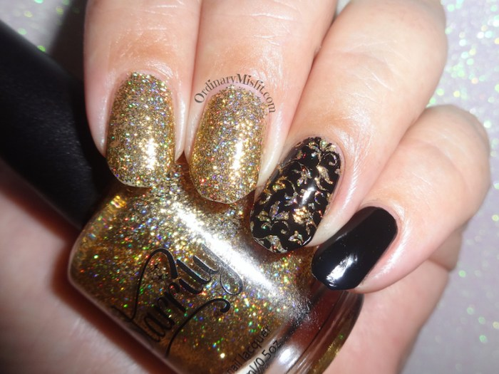 Polished Pretties monthly mani - Thea's choice flash