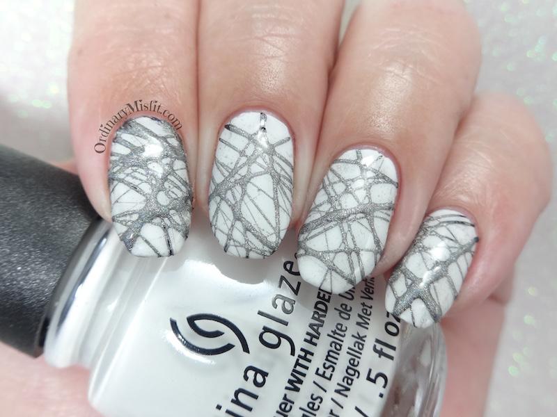 52 week nail art challenge - Week 21: White & silver