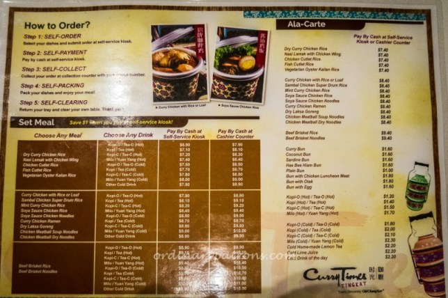 Curry Times Tingkat Menu