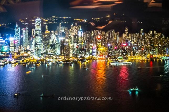 View of Hong Kong from Inakaya @ Sky Dining 101