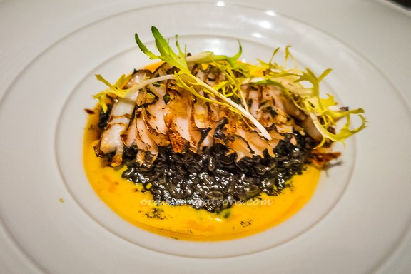 Squid Ink Rice with Abalone