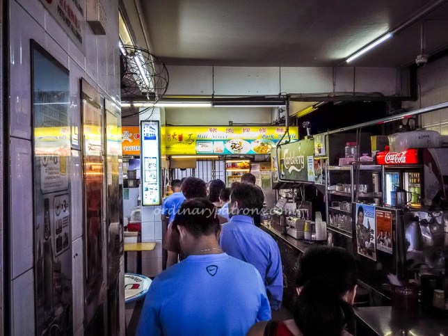 Hill Street Tai Hwa Pork Bak Chor Mee - queue