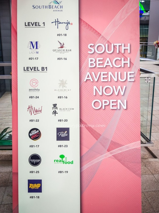 South Beach Avenue Directory