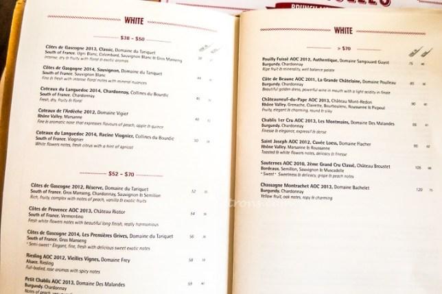 O Batignolles Wine List
