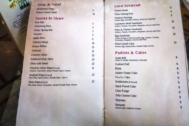 Menu Jubilee Coffee House