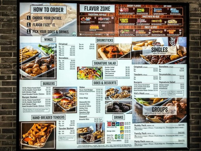 Wing Zone Singapore Menu