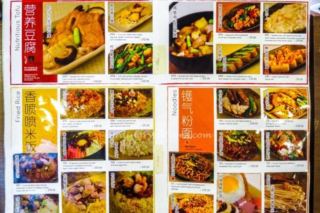 Menu Mayim Chinese Cuisine