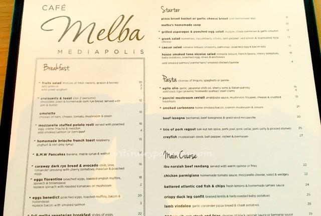Cafe Melba Mediapolis Menu - 1