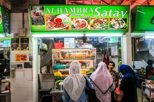 geylang serai food centre - satay