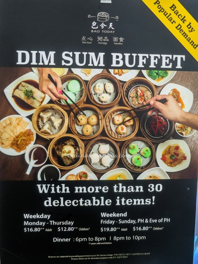 Dim Sum Buffet Bao Today @ Hotel Rendezvous