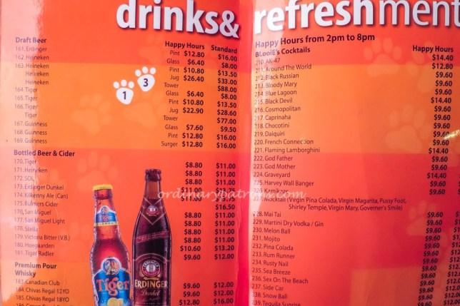 BLooiE's Bar & Roastery in Siglap Drinks Menu