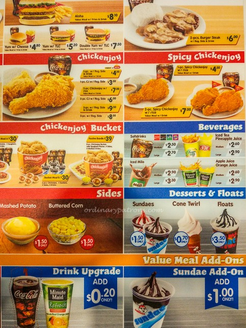 Jollibee Singapore menu