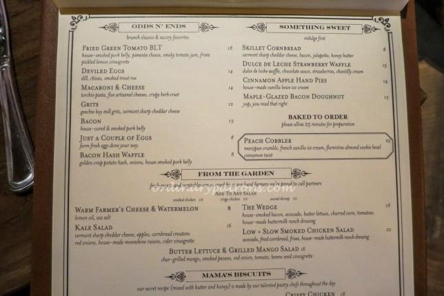 The Bird Southern Table & Bar Menu