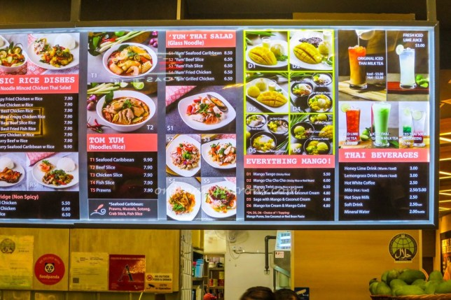 Saap Saap Thai Menu