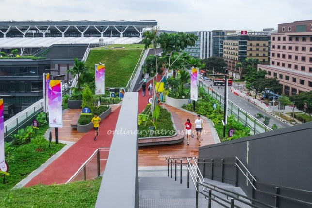 Rooftop running track at Our Tampines Hub