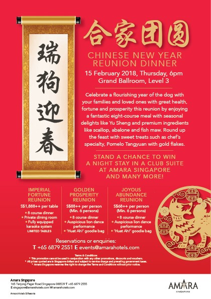 Chinese new year reunion at Amara