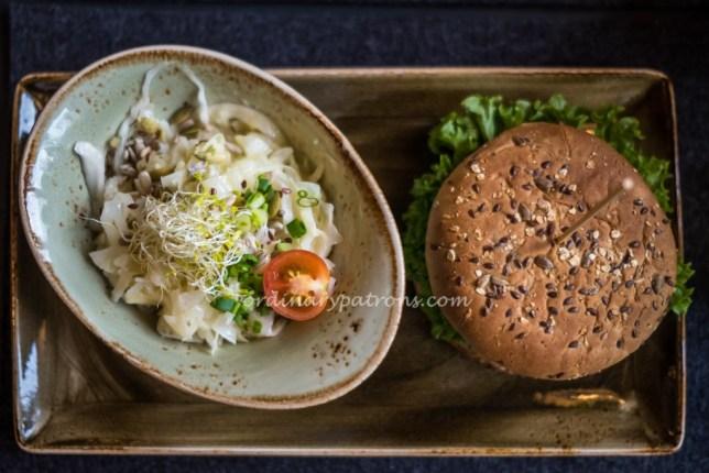 Meal at hans im glück German Burgergrill