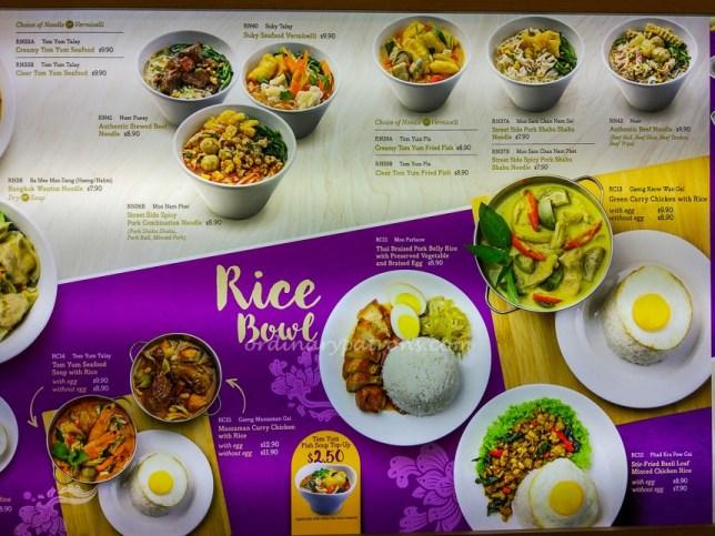 Bowl Thai Chinatown Point Menu