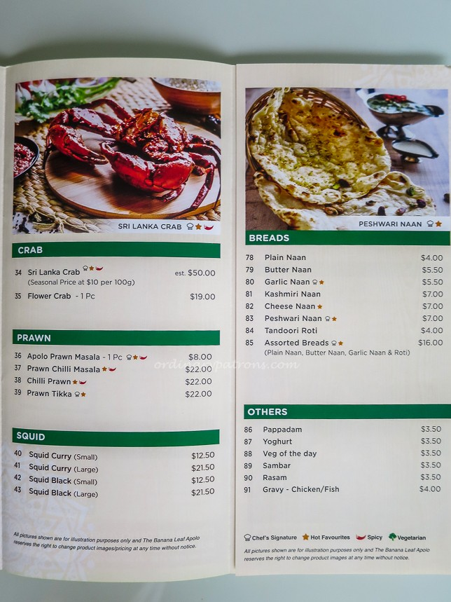 The Banana Leaf Apolo Menu