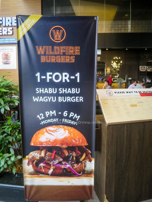 Wildfire Burgers 1-for-1