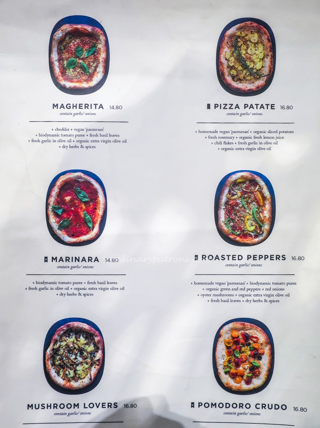 Pizza Menu of Real Food