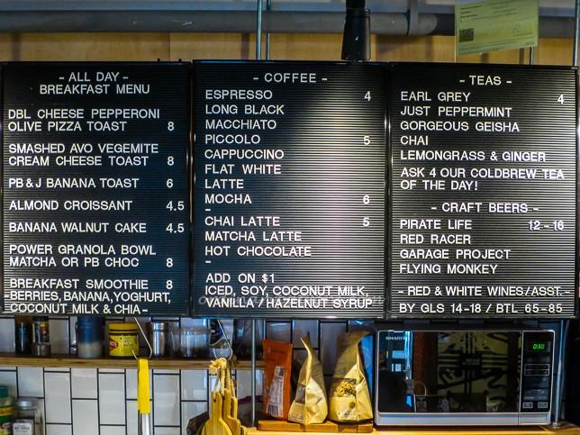Choice Cuts Goods and Coffee Menu