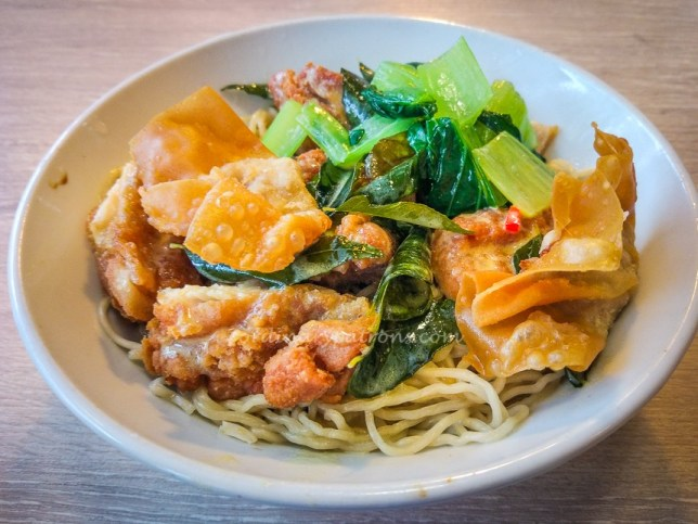 Pontian Salted Egg Chicken Cutlet Noodles