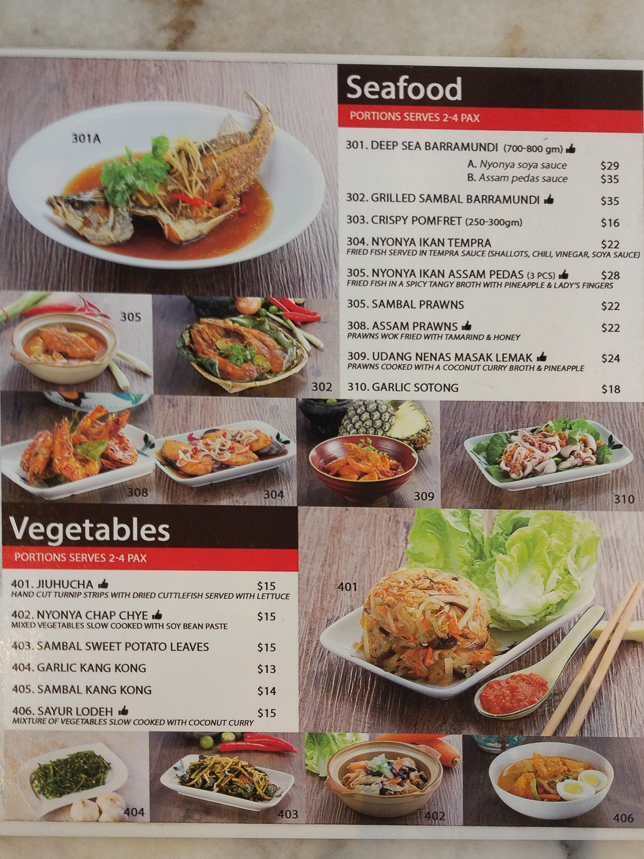 Old Bibik's Peranakan Kitchen Menu
