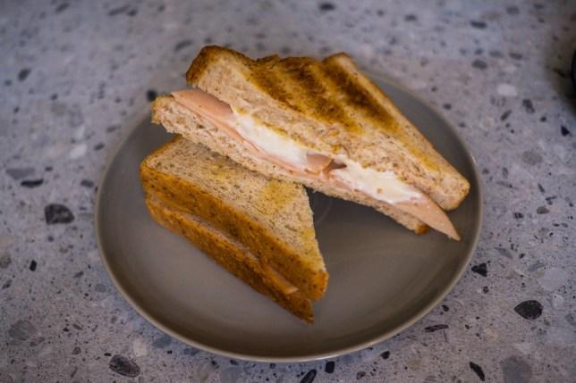 Ham & Cheese Toast at Foreword Coffee TSH