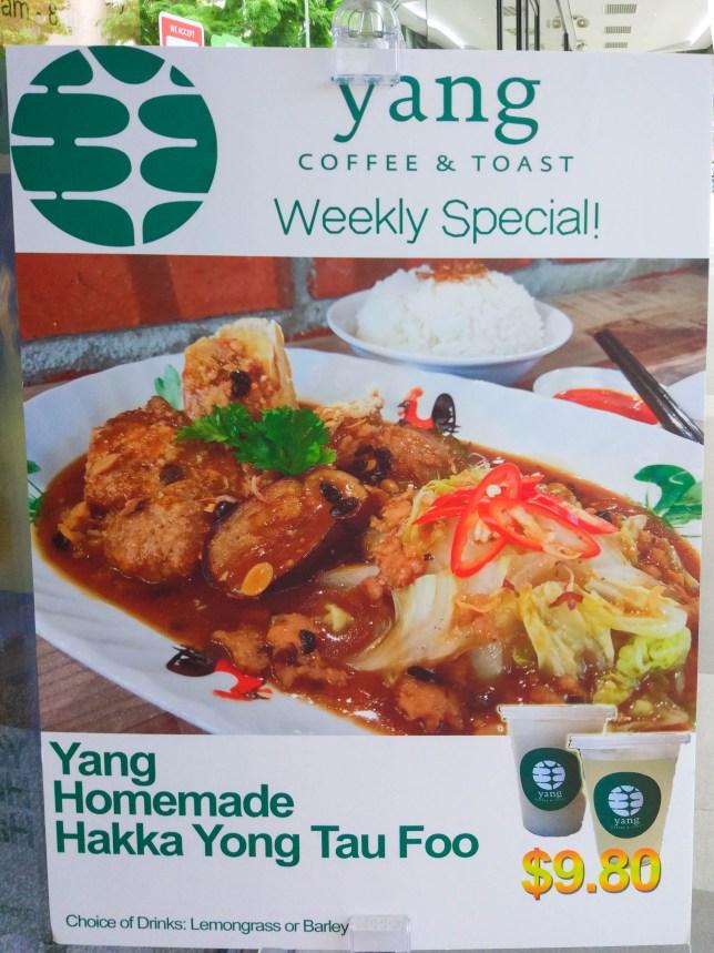 Yang Coffee & Toast Weekly Special