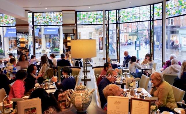 Afternoon tea at Bettys Café Tea Rooms, York England