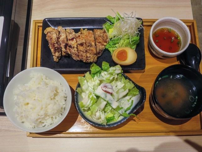 Rice Set of House Yamamoto at Raffles City