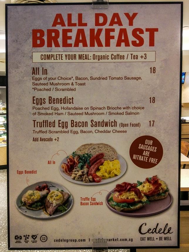 All day breakfast Cedele Bakery Kitchen - Raffles City