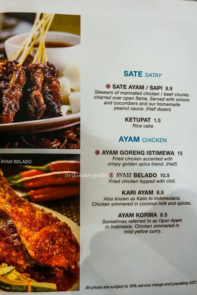 Tambuah Mas Great World City menu 2020