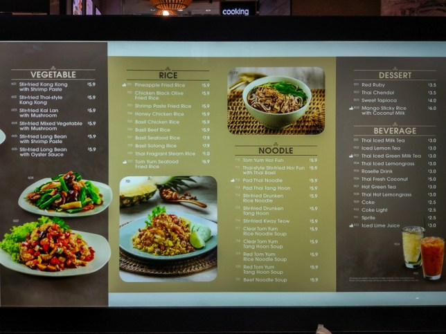Sanook Kitchen Menu