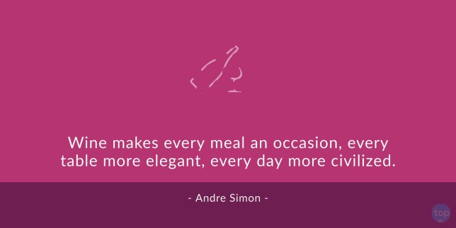 Wine makes every meal an occasion, every table more elegant, every day more civilized. - Andre Simon quote
