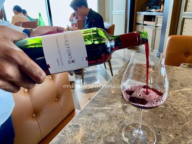 665°F Andaz Singapore Steakhouse Wine