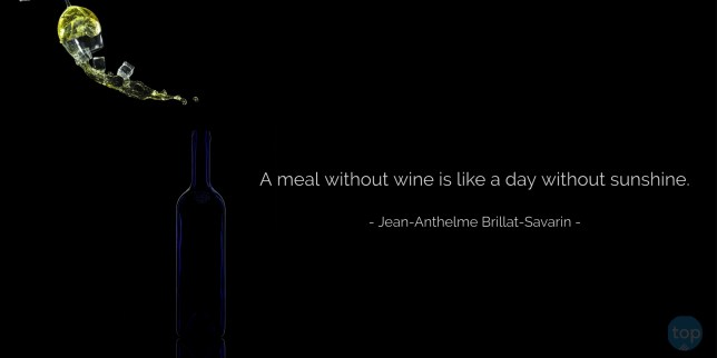 A meal without wine is like a day without sunshine. - Jean-Anthelme Brillat-Savarin   quote